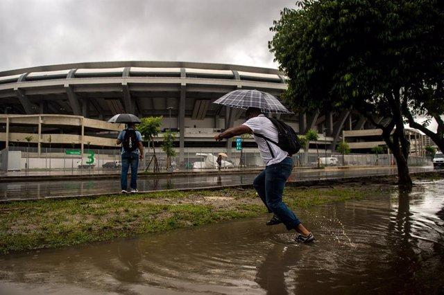 Imatge de les pluges a Rio de Janeiro.