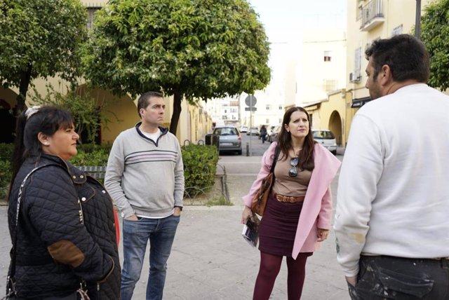 La concejal de Cs en Sevilla Amelia Velázquez, en la Barzola