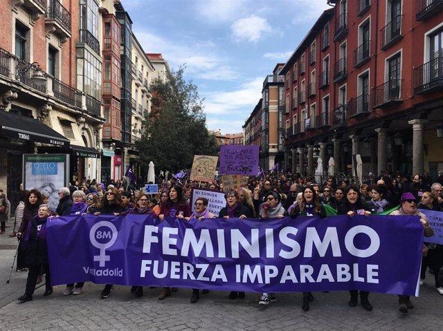 Manifestación de este domingo 8 de marzo en Valladolid