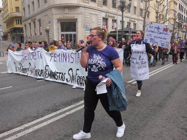 Manifestación 8M en Santander