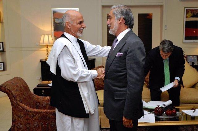 Ashraf Ghani y Abdulá Abdulá