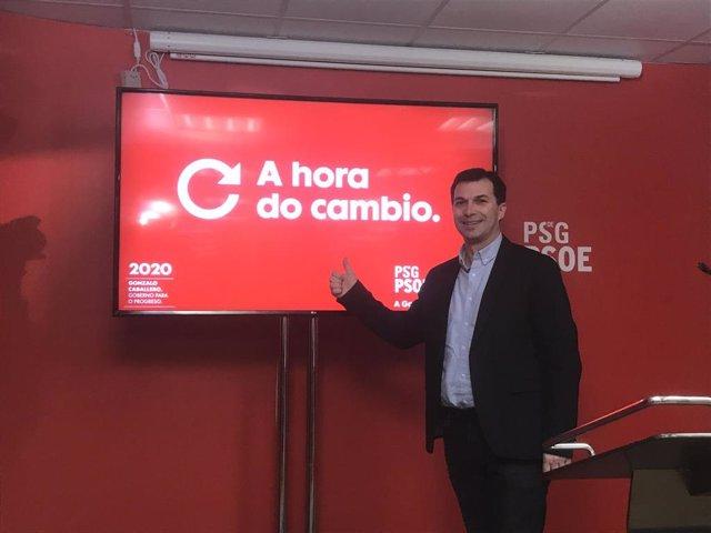 El candidato del PSdeG a la Xunta, Gonzalo Caballero, presenta el lema de precampaña de su formación para las autonómicas gallegas