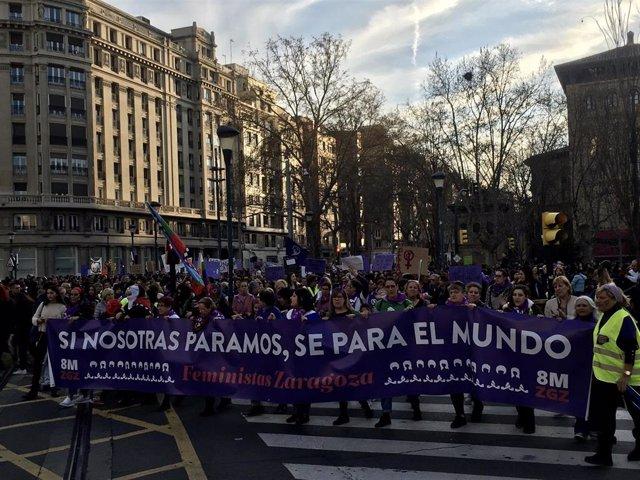 Manifestación del 8-M en Zaragoza