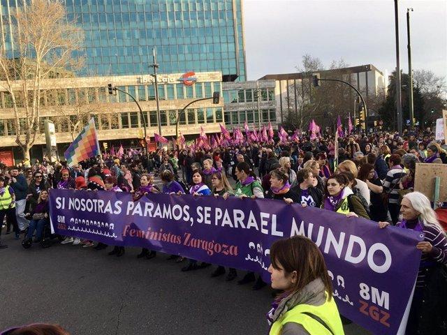 Manifestación 8-M en Zaragoza
