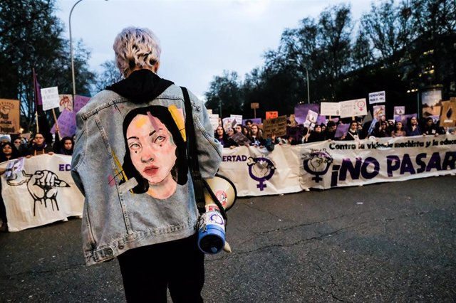 Manifestación del 8M (Día Internacional de la Mujer) en Madrid a 8 de marzo de 2020