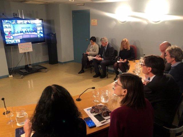 El ministerio y las comunidades autónomas se reúnen por videoconferencia para analizar la evolución del coronavirus en España el lunes 9 de marzo de 2020.