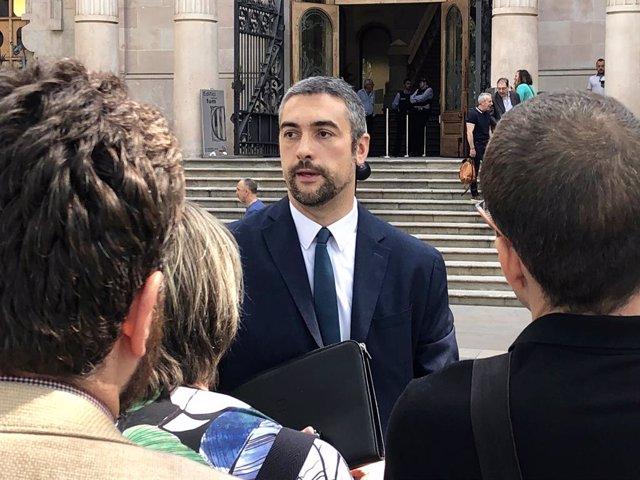 L'alcalde d'Agramunt i diputat d'ERC Bernat Solé després de declarar al TSJC
