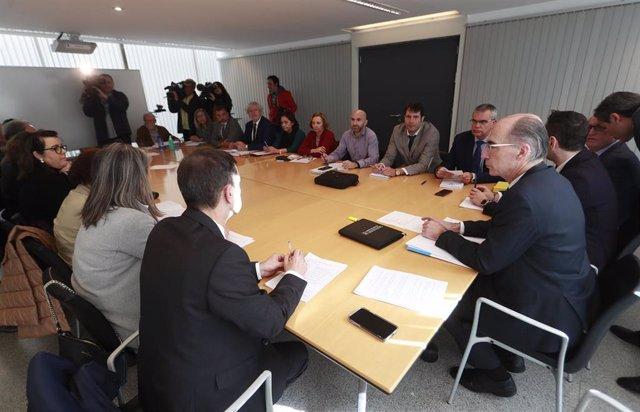 Reunión en la Consellería de SAnidade en relación al dispositivo por el coronavirus.