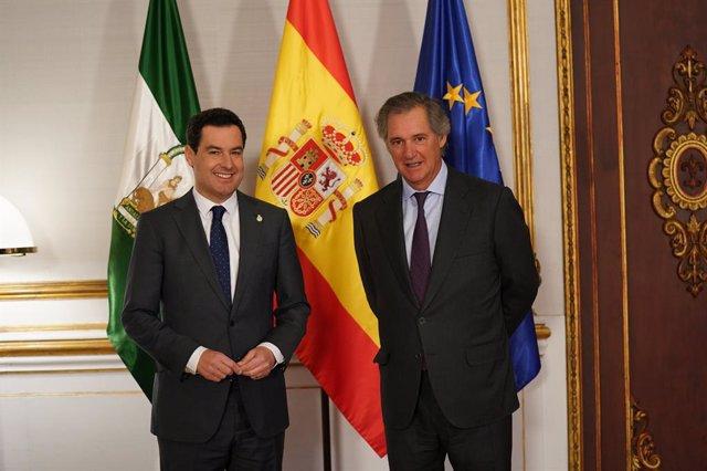 """Moreno recibe al presidente de Acciona y cree el medioambiente como """"compromiso"""