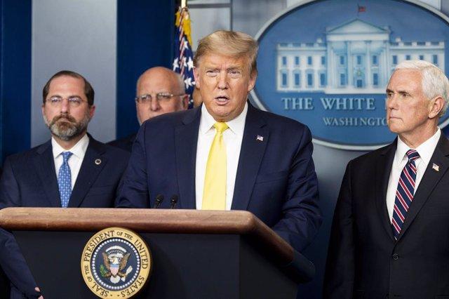Coronavirus.- Trump tuvo contacto con congresistas ahora en cuarentena por coron