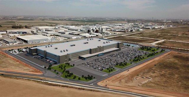 Recreación del centro logístico que Amazon construirá en Dos Hermanas (Sevilla).