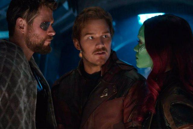 Thor y Los Guardianes de la Galaxia en Vengadores: Infinity War