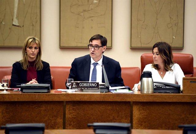 El ministro de Sanidad, Salvador Illa que comparece  en el Congreso