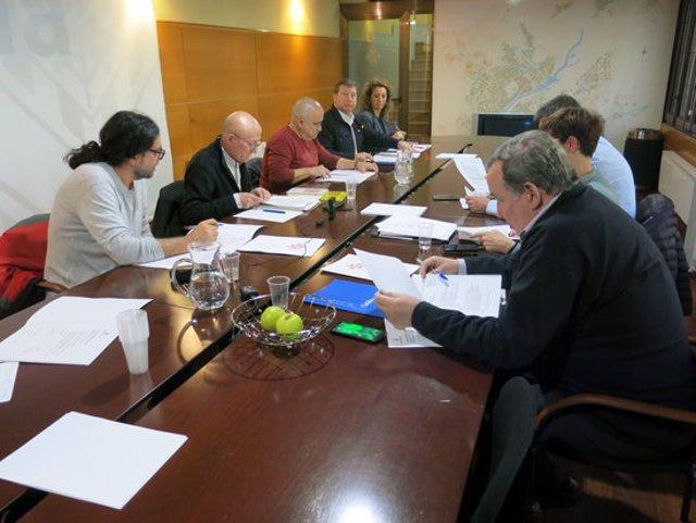 Pla obert de la reunió de la comissió especial de l'1-O de l'Ajuntament de Lleida, el 10 de març del 2020. (Horitzontal)