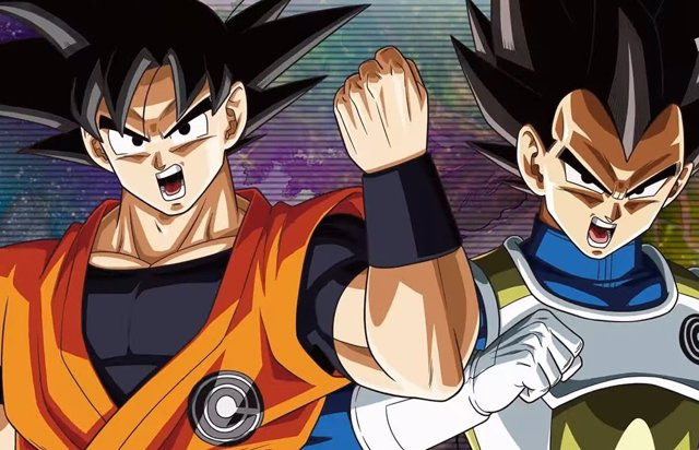 Goku y Vegeta en Super Dragon Ball Heroes