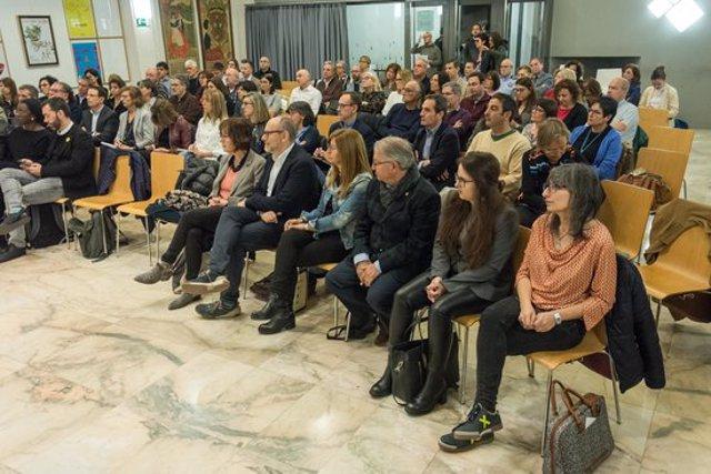Alguns dels regidors i responsables municipals que formen part del Quadre Integral de Comandament (QIC) de l'Ajuntament de Lleida, durat la reunió celebrada el 10 de març del 2020. (Horitzontal)