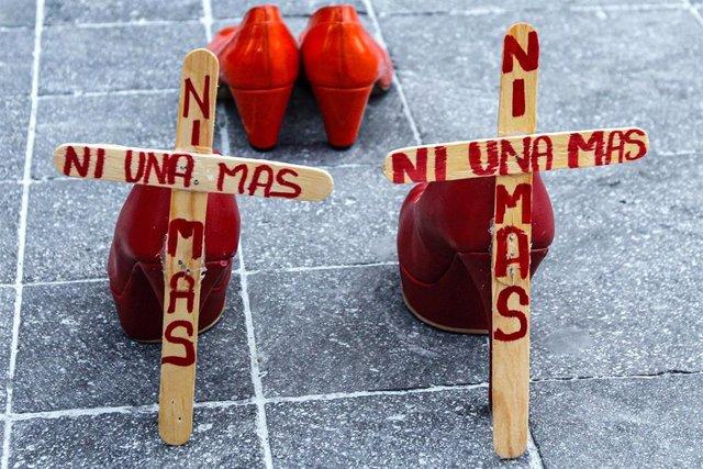 Manifestación contra el feminicidio en México