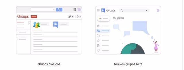 Google trabaja en el rediseño de su servicio Grupos, que ya se puede probar en s