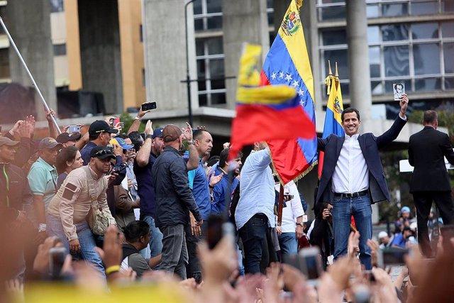 """El autoproclamado """"presidente encargado"""" de Venezuela, Juan Guaidó. (Imagen de archivo)"""