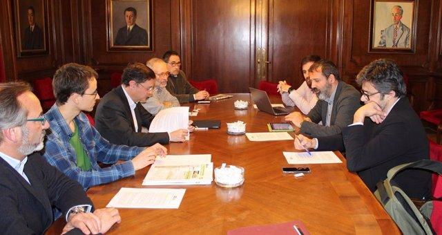 La reunió entre els membres de FEM Vallès i la Conselleria de Territori i Sostenibilitat