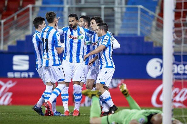 Fútbol/Primera.- La Real Sociedad se mete en 'Champions' a costa de un Eibar dep