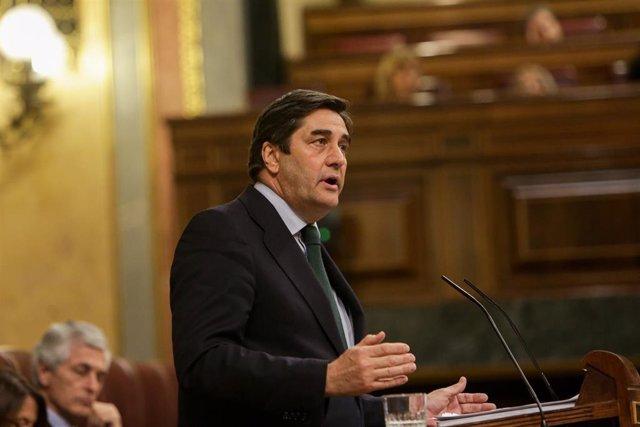 El diputado del Partido Popular en el Congreso José Ignacio Echániz, durante una intervención en el Congreso