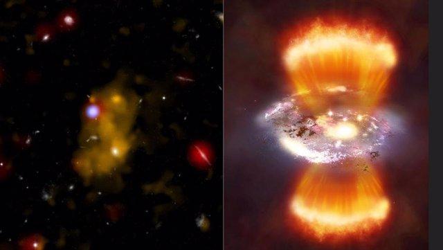 Qué fuente de energía impulsa los mayores objetos del universo