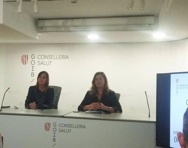 La directora general de Salud Pública, Maria Antònia Font, y la consellera de Salud, Patricia Gómez
