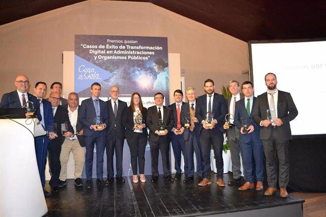 La asociación ASLAN premia 14 casos de éxito en transformación digital de la Adm