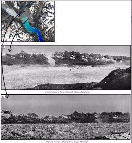 Un glaciar de Groenlandia ya colapsó por el calentamiento hace 90 años