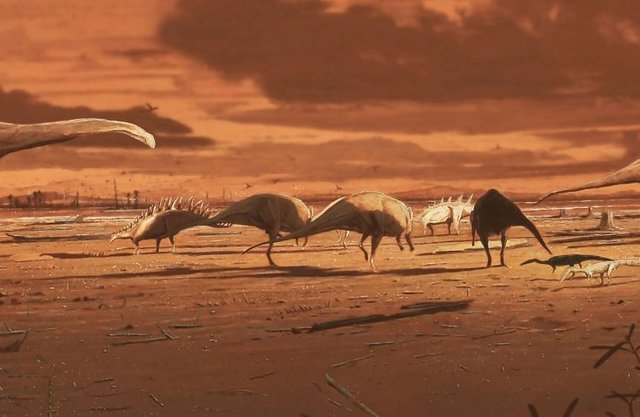 Huellas fósiles de estegosaurios aparecen en una isla escocesa