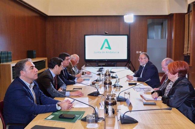 Reunión de la Junta de Andalucía y la FAMP para el seguimiento del coronavirus