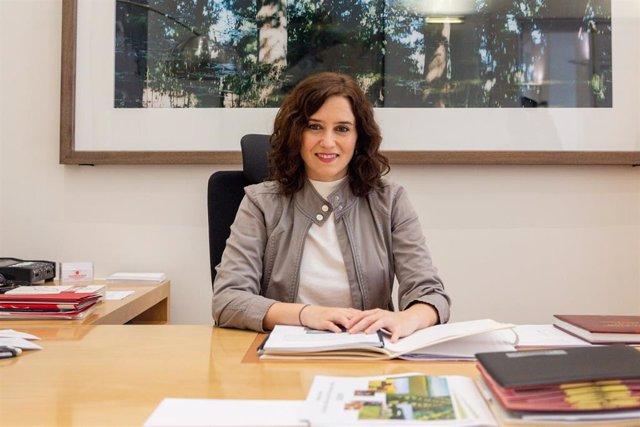 Retrato de la presidenta de la Comunidad de Madrid, Isabel Díaz Ayuso, en Madrid a 7 de diciembre de 2019.