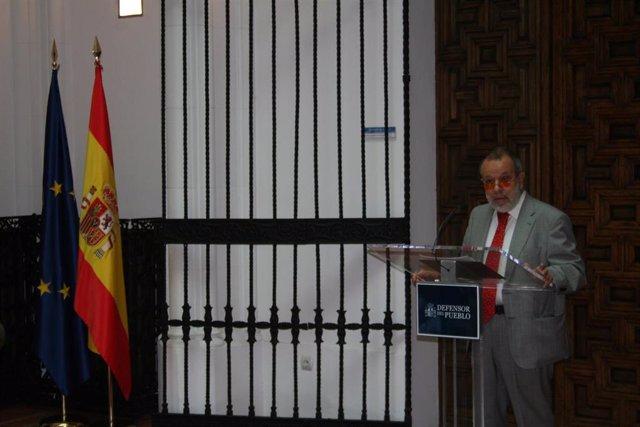 El Defensor del Pueblo, Francisco Fernández Marugán, en una imagen de archivo