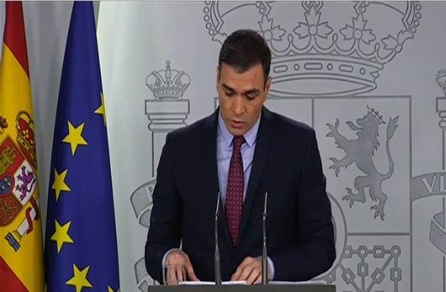 Rueda de prensa del presidente del Gobierno, Pedro Sánchez, tras el Consejo de Ministros