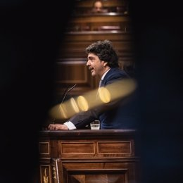 El responsable económico del PP en el Congreso, Mario Garcés, interviene ante el Pleno de la Cámara Baja
