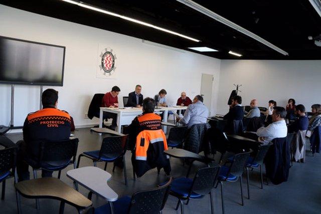 Pla obert de la reunió del Comit d'Emergncies Municipals de Tarragona, reunit a la comissaria de la Gurdia Urbana el 12 de mar del 2020. (Horitzontal)
