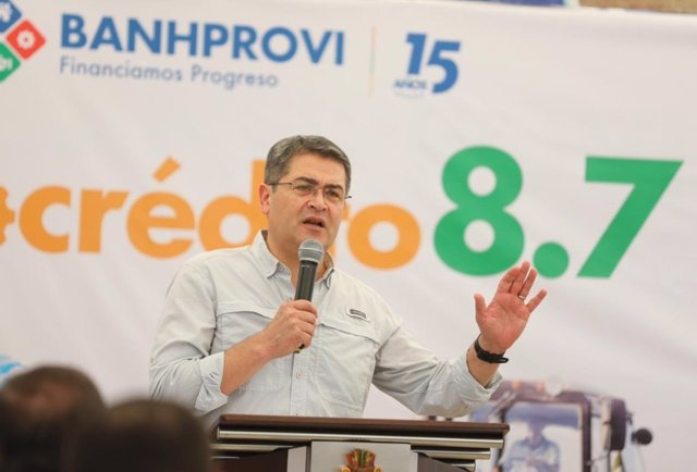 El presidente de Honduras, Juan Orlando Hernández