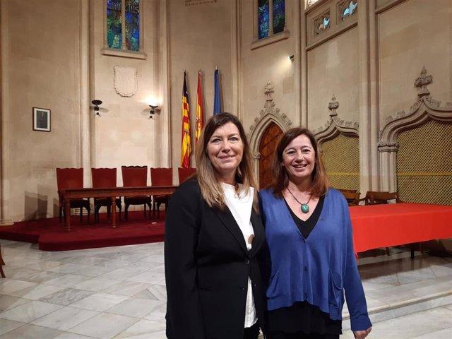 La presidenta del Govern, Francina Armengol, y la consellera de Salud y Consumo, Patricia Gómez.