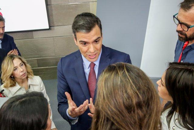 El presidente del Gobierno, Pedro Sánchez, analiza el impacto del coronavirus tras una reunión extraordinaria por videoconferencia del Consejo Europeo,  Madrid (España) a 10 de marzo de 2020.