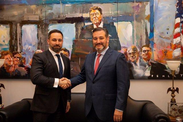 Santiago Abascal en su reunión con Ted Cruz