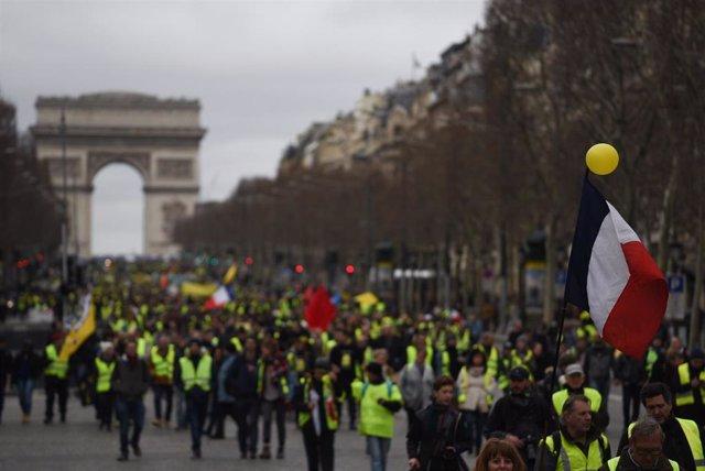 Manifestación de los 'chalecos amarillos' el 2 de marzo