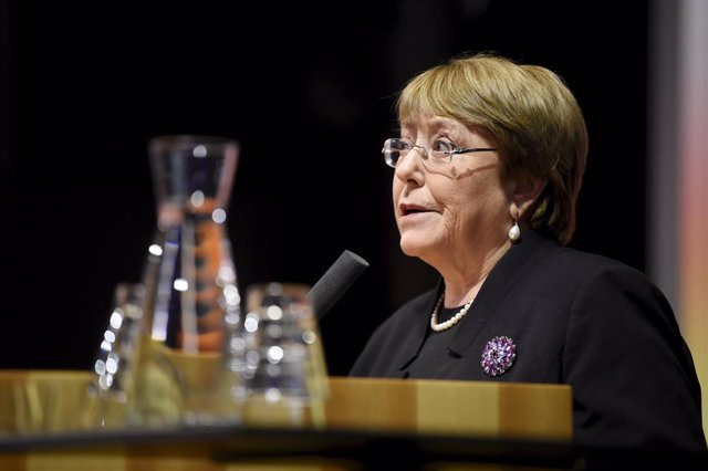 06 February 2020, Finland, Espoo: United Nations High Commissioner for Human Rights Michelle Bachelet speaks speaks during the Hanalys seminar on foreign and security policy of Finland, Sweden and Norway in the multilateral cooperation. Photo: Antti Aimo-