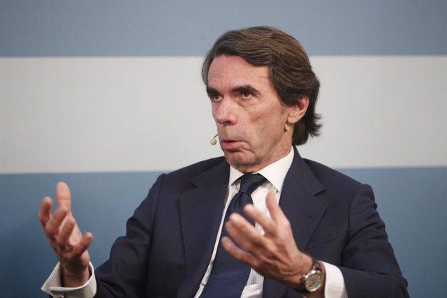 L'expresident del Govern José María Aznar intervé en un acte públic a Madrid el passat 27 de febrer
