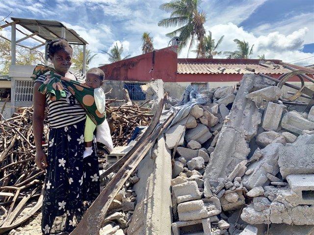 Una mujer afectada por el ciclón 'Idai' en Mozambique