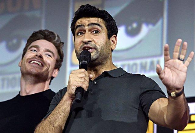 Kumail Nanjiani en la presentación de Marvel Studios en la Comic Con