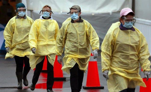 Imagen de unas enfermeras en medio de la epidemia del coronavirus.