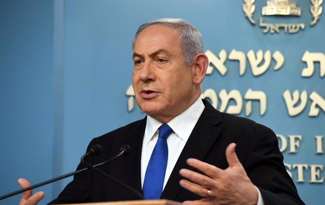 FILED - 11 March 2020, Israel, Jerusalem: Israeli Prime Minister Benjamin Netanyahu delivers a statement regarding the pre-emptive measure taken against the coronavirus outbreak. Photo: Haim Zach/GPO/dpa - ATTENTION: editorial use only and only if the c