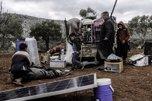 Desplazados en Idlib