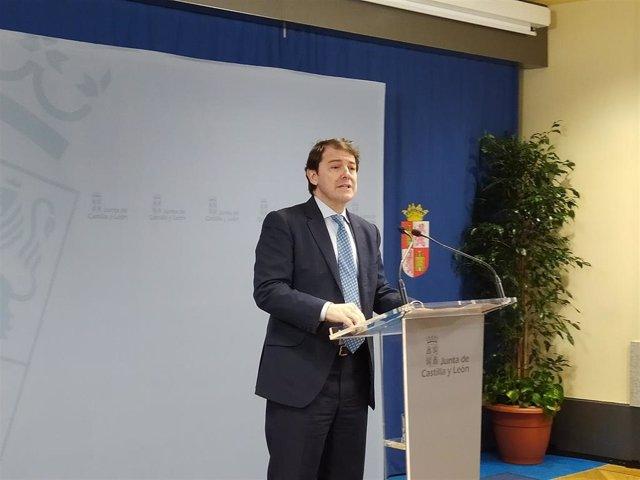 El presidente de la Junta, Alfonso Fernández Mañueco.
